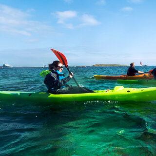 Kayak en rade de Brest