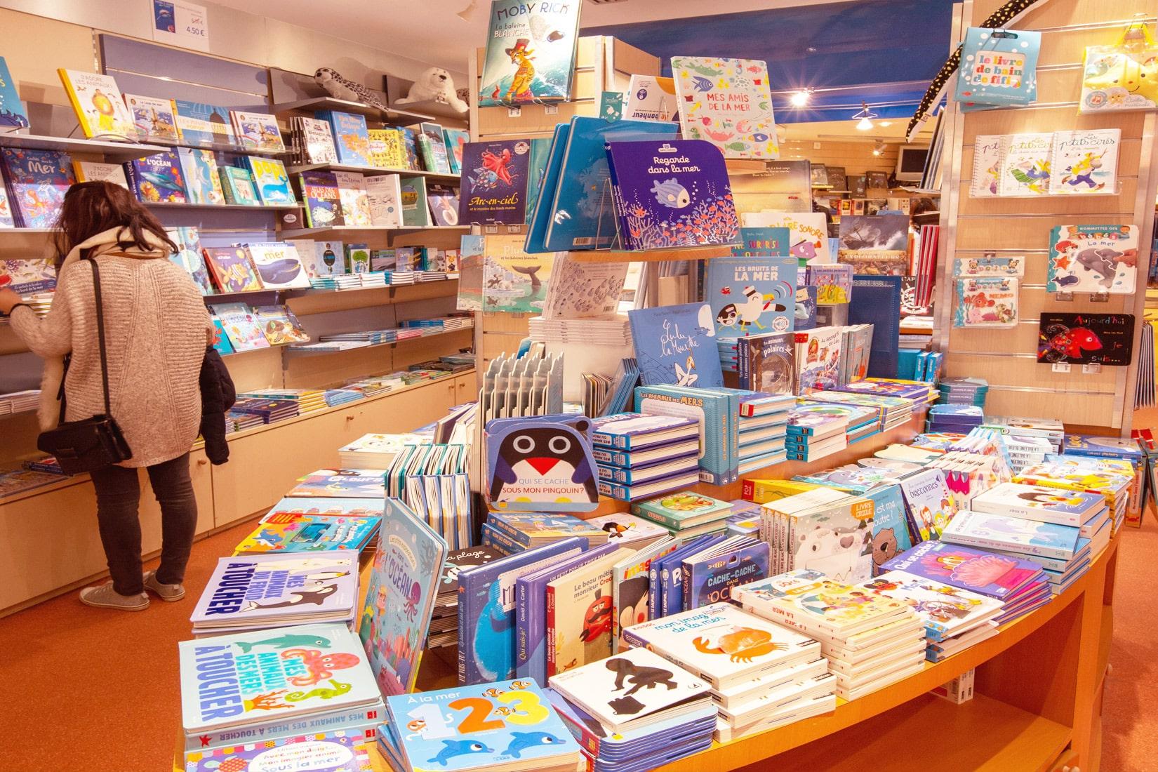 Die Buchhandlung von Océanopolis © Océanopolis