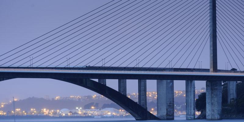 Pont de l'Iroise - vue sur la rade de Brest - © Emmanuel Berthier