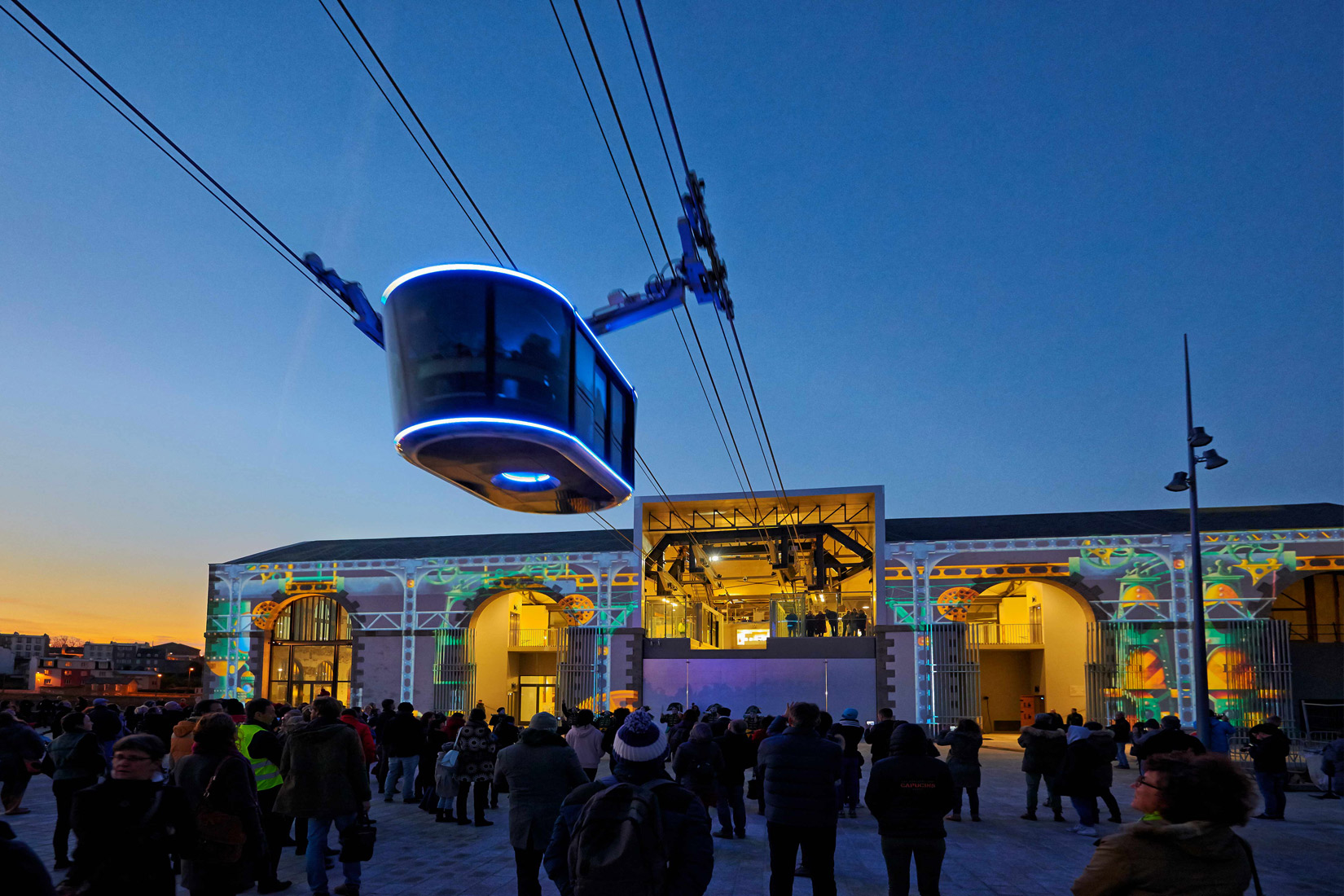 The cable car and the Capucins workshops © Tourist Office of Brest Metropole