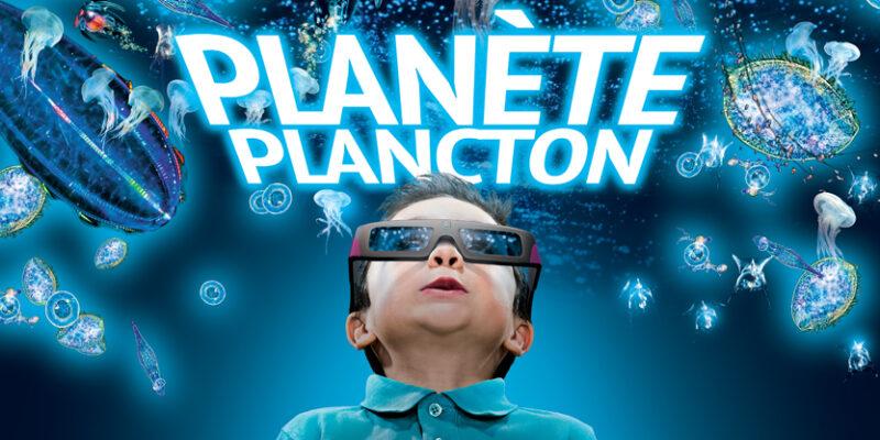 Affiche planète plancton, animations des vacances de printemps à Océanopolis