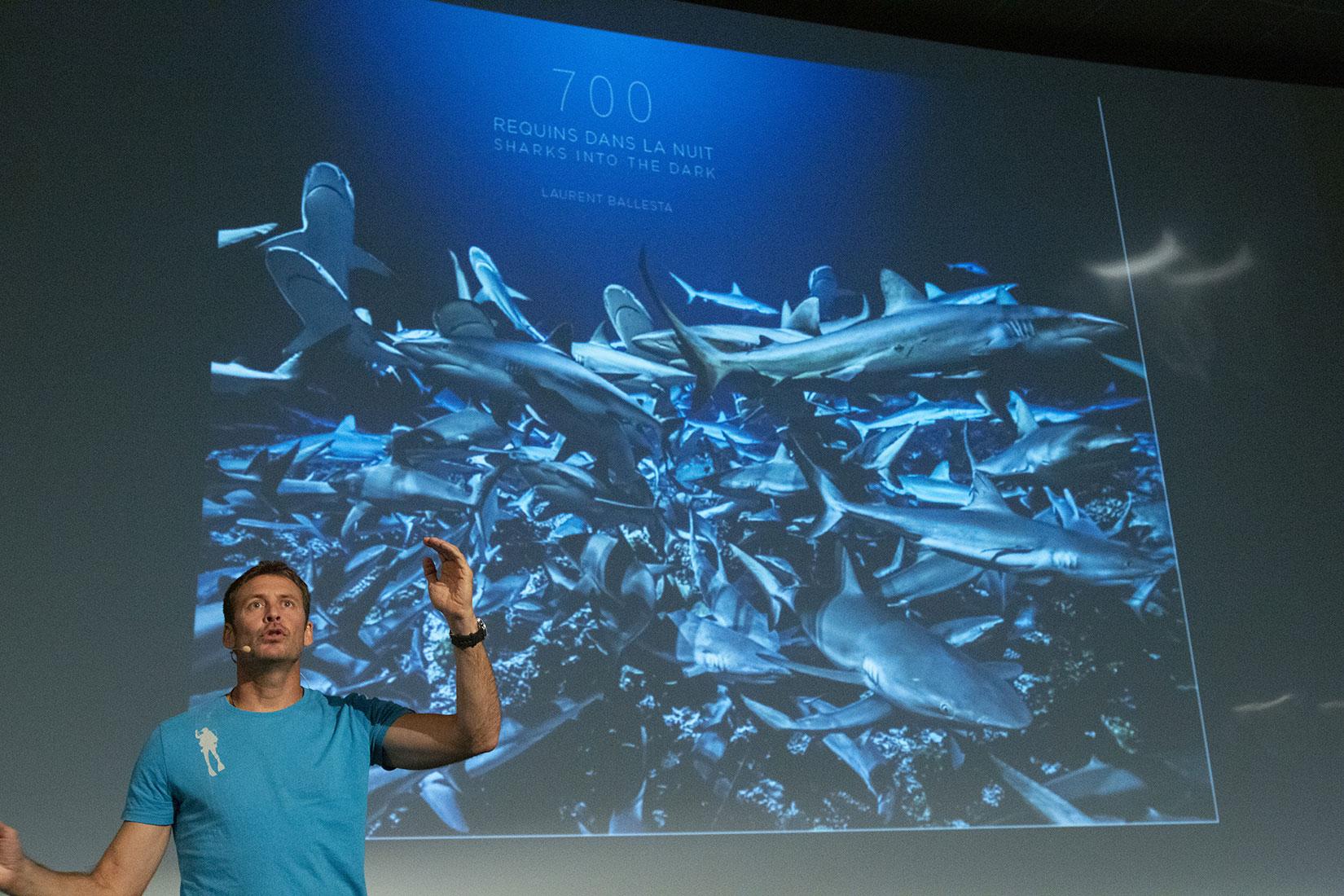 Conférence scientifique, Laurent Ballesta - © Océanopolis